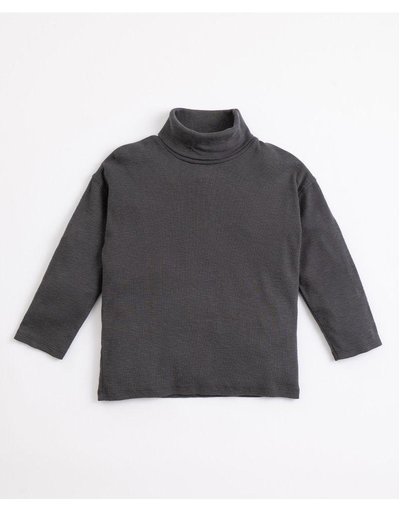 Play Up Play Up : Collar flamé rib sweater grijs boy