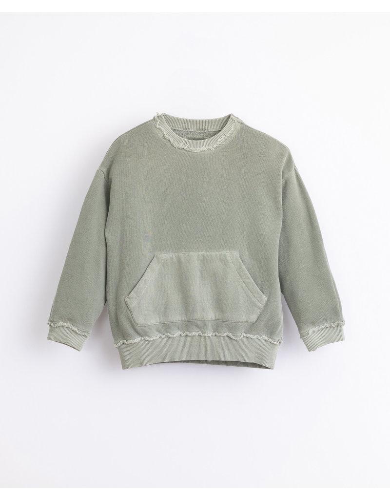 Play Up Play Up : Fleece sweater groen met zakken