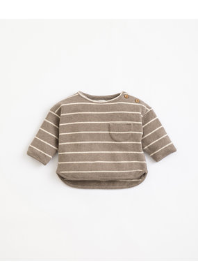 Play Up Play Up : Striped jersey sweater donker grijs