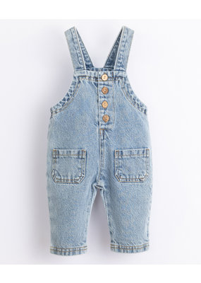 Play Up Play Up : Denim Dungaree knoopjes midden