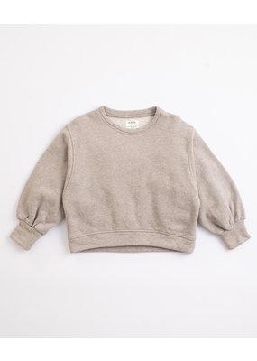 Play Up Play Up : Fleece sweater grijs pof mouw