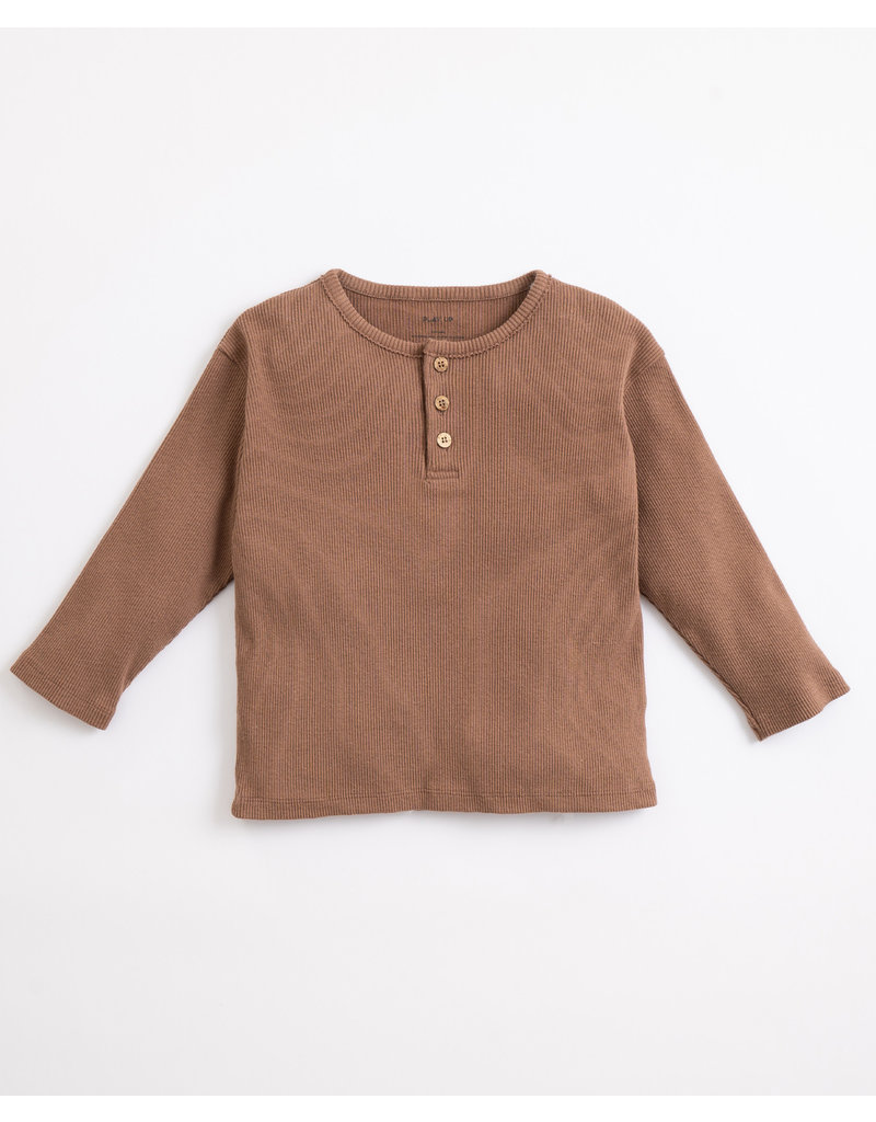Play Up Play Up : Rib sweater knoopjes bruin
