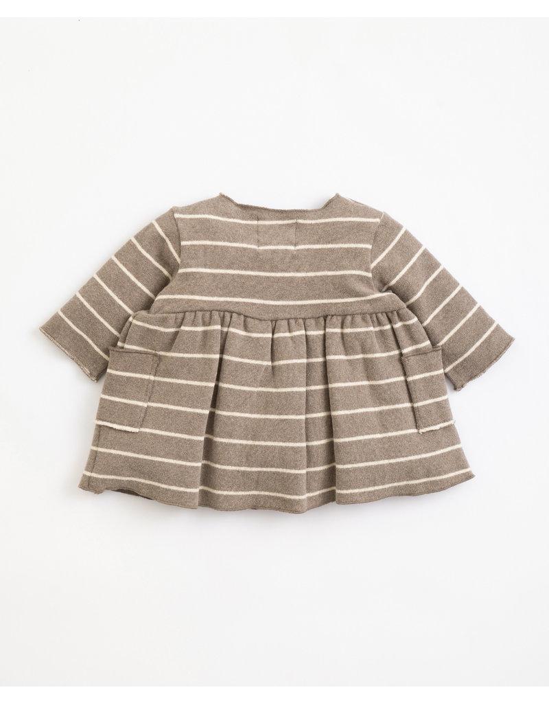 Play Up Play Up : Striped Jersey dress licht grijs/wit
