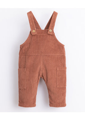 Play Up Play Up : Corduroy dungaree jumpsuit rood/bruin