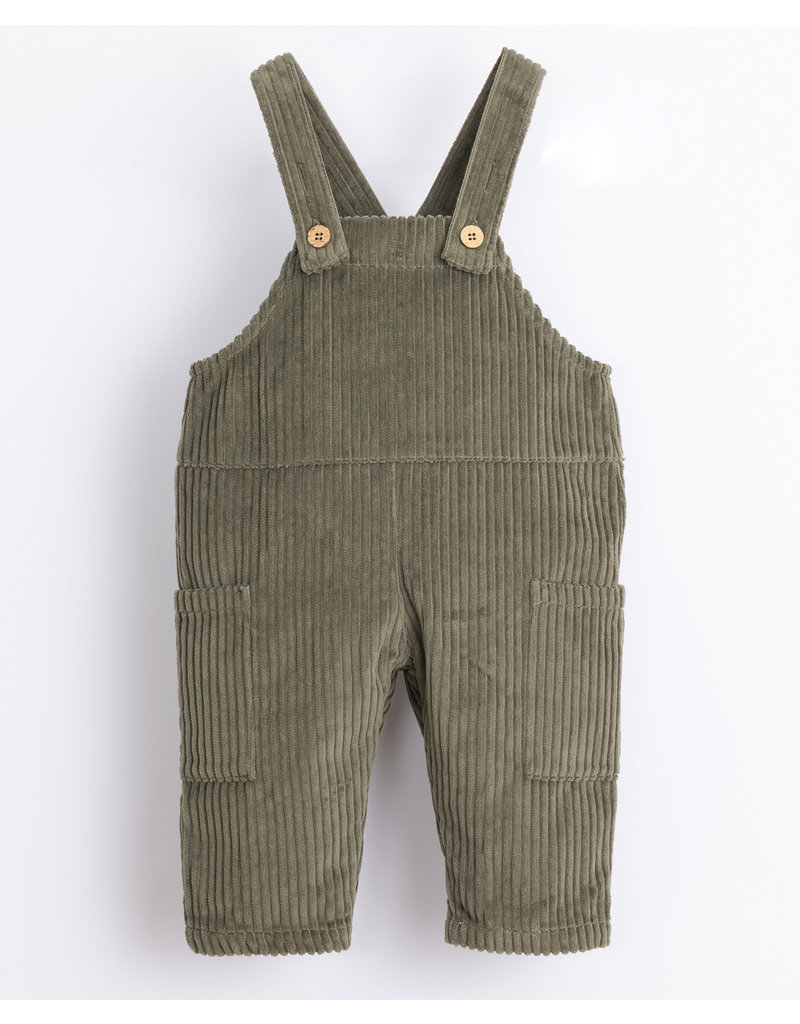 Play Up Play Up : Corduroy dungaree jumpsuit groen