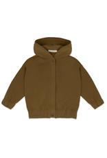 Phil & Phae Phil & Phae : Sweat jacket with hood - bronze olive