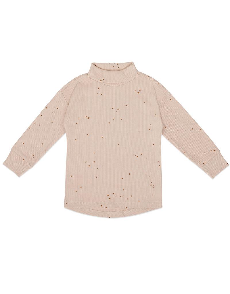 Phil & Phae Phil & Phae : Rib turtleneck tee l/s  - warm cream dots