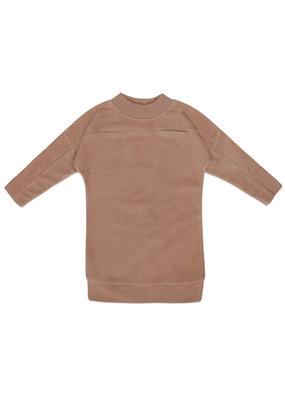 Phil & Phae Phil & Phae : Teddy sweater dress - creamy mocha