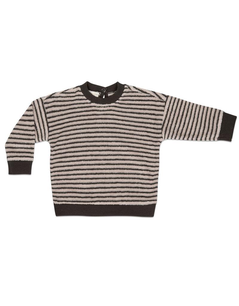 Phil & Phae Phil & Phae : Baby sweater loopy striped - graphite