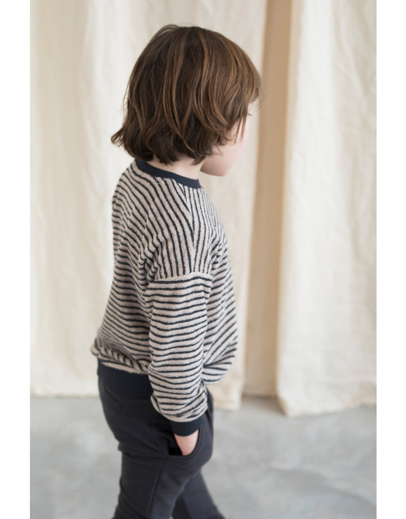 Phil & Phae Phil & Phae : Sweater loopy striped - Graphite