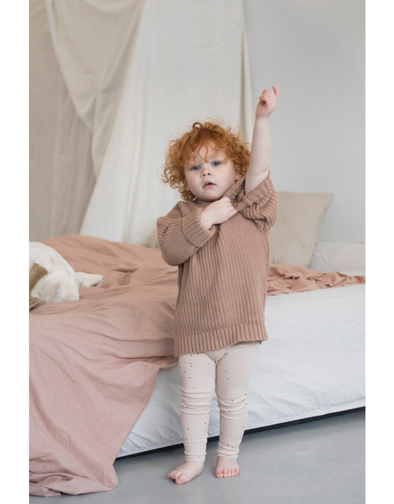 Phil & Phae Phil & Phae : Chunky knit sweater - Dusty nude