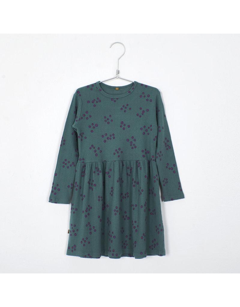 Lötiekids Lötiekids : Dress waist seam - blueberries green
