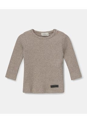 My Little Cozmo My little cozmo : Jamie top - soft feel ribbed fabric - beige