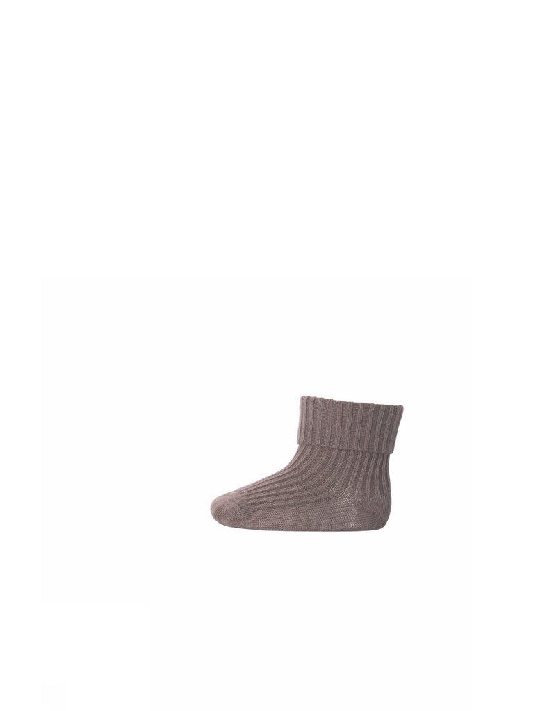 MP Denmark MP Denmark : Cotton rib baby socks - brown