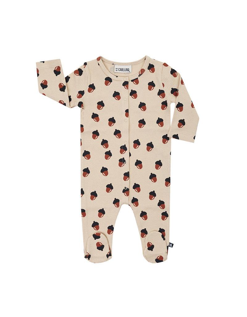 Carlijn Q Carlijn Q : Acorn waffle - newborn jumpsuit - unisex