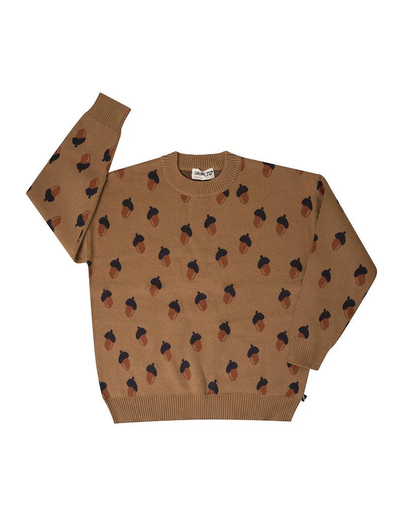 Carlijn Q Carlijn Q : Acorn knidded sweater - girl