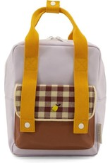 Sticky Lemon Sticky Lemon: Backpack small Gingham Chocolate  sundae Daisy yellow