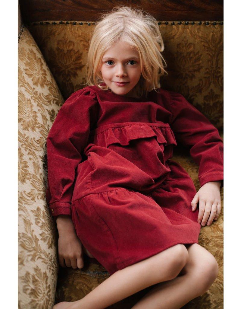 Daily Brat Daily Brat : Mila corduroy dress spicy red