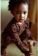 Daily Brat Daily Brat : Leopard bodysuit hickory brown