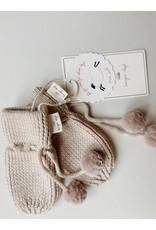 Konges Sløjd Konges Sløjd : Miro knit mittens - White cream melange