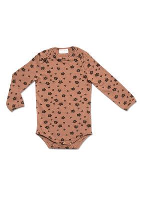 Petit Blush Petit Blush : Daisy bodysuit - Brown floral