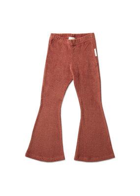 Petit Blush Petit Blush : Bowie flared pants - marsala