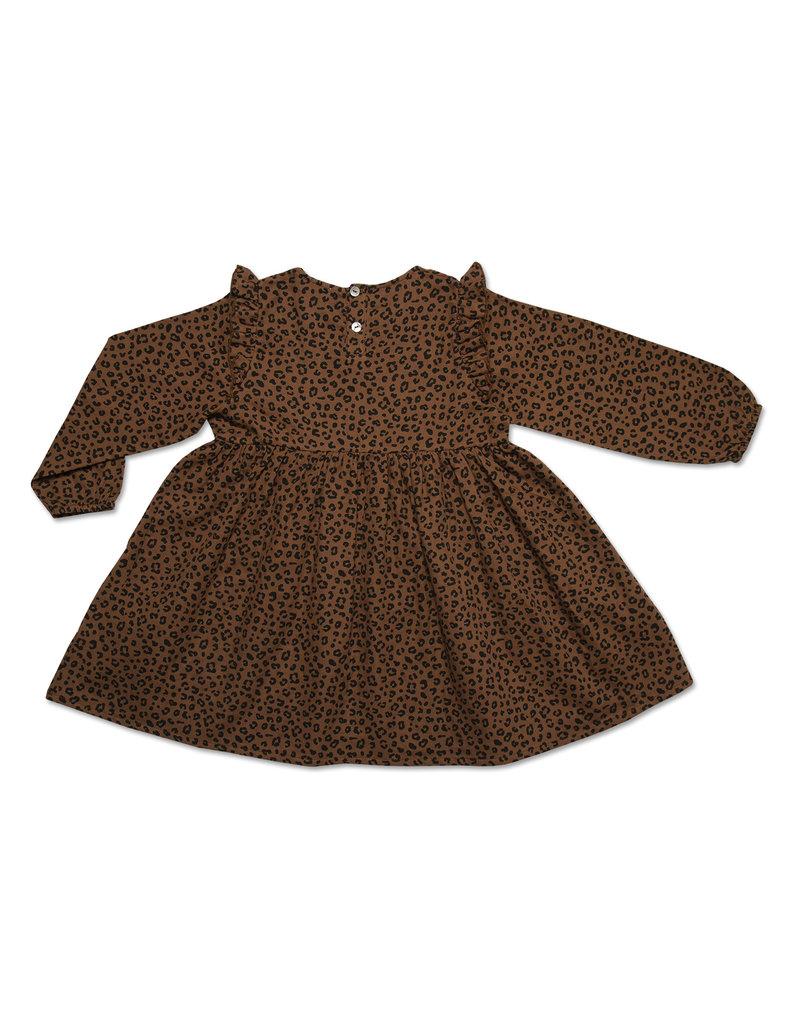 Petit Blush Petit Blush : Julie ruffle dress - Brown leopard