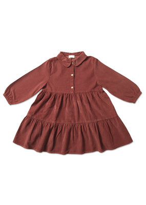 Petit Blush Petit Blush : Button collar dress - But henna
