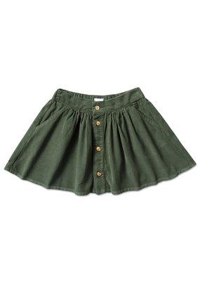 Petit Blush Petit Blush : Mini button skirt - mist green