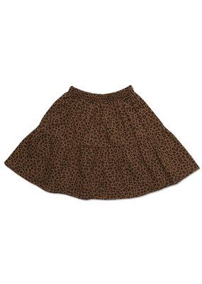 Petit Blush Petit Blush : Midi Lewis frill skirt - Brown leopard