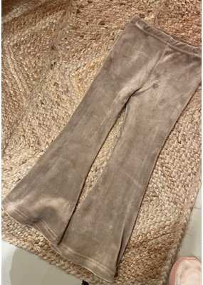 Navy Naturel Navy Naturel : Flared pants velvet zand
