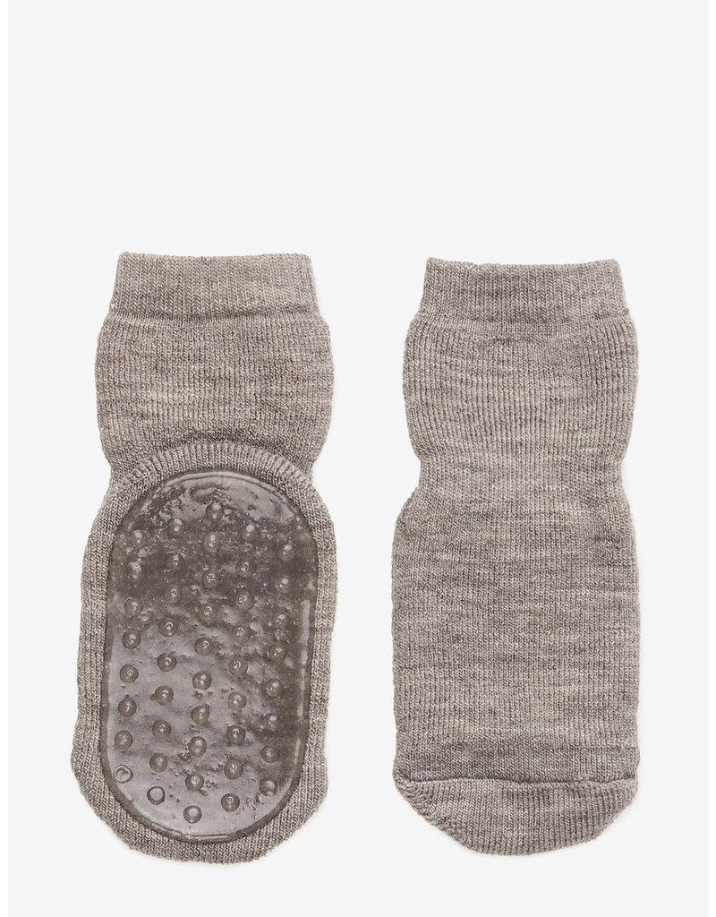 MP Denmark Mp Denmark : Wool socks with anti-slip - Light Brown Melange