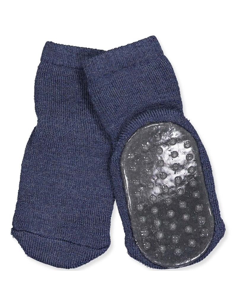 MP Denmark Mp Denmark : Cotton socks with anti-slip - Dark Denim Melange
