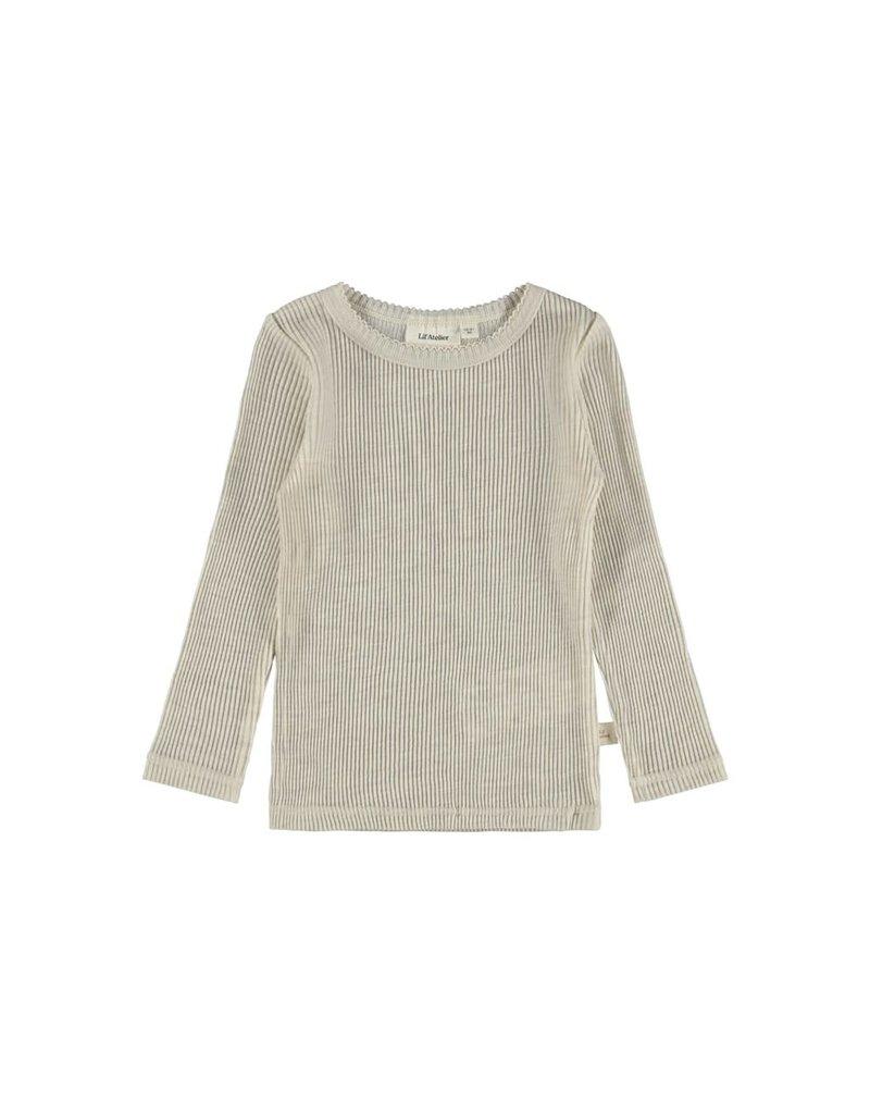 Lil ' Atelier Lil ' Atelier : Necho top t-shirt  - Peyote melange