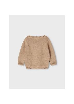 Lil ' Atelier Lil' Atelier : Egalto Longsleeve Knit Kids -  Tobacco Brown