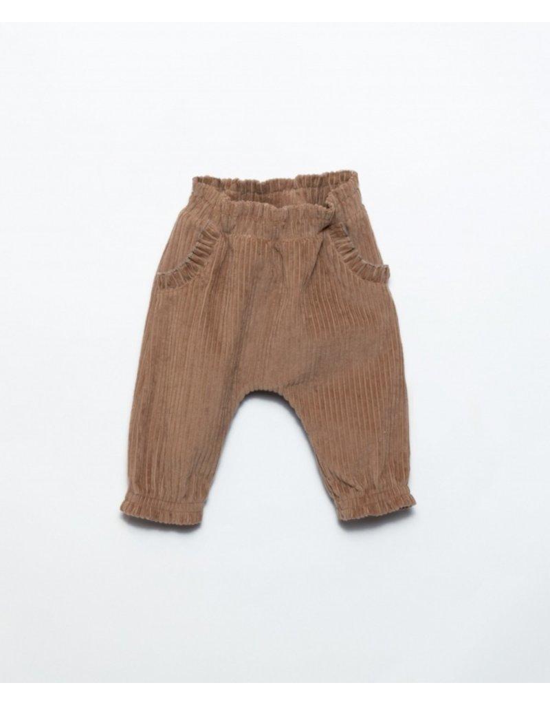 Play Up Play Up : Corduroy trousers sand ruffle zak