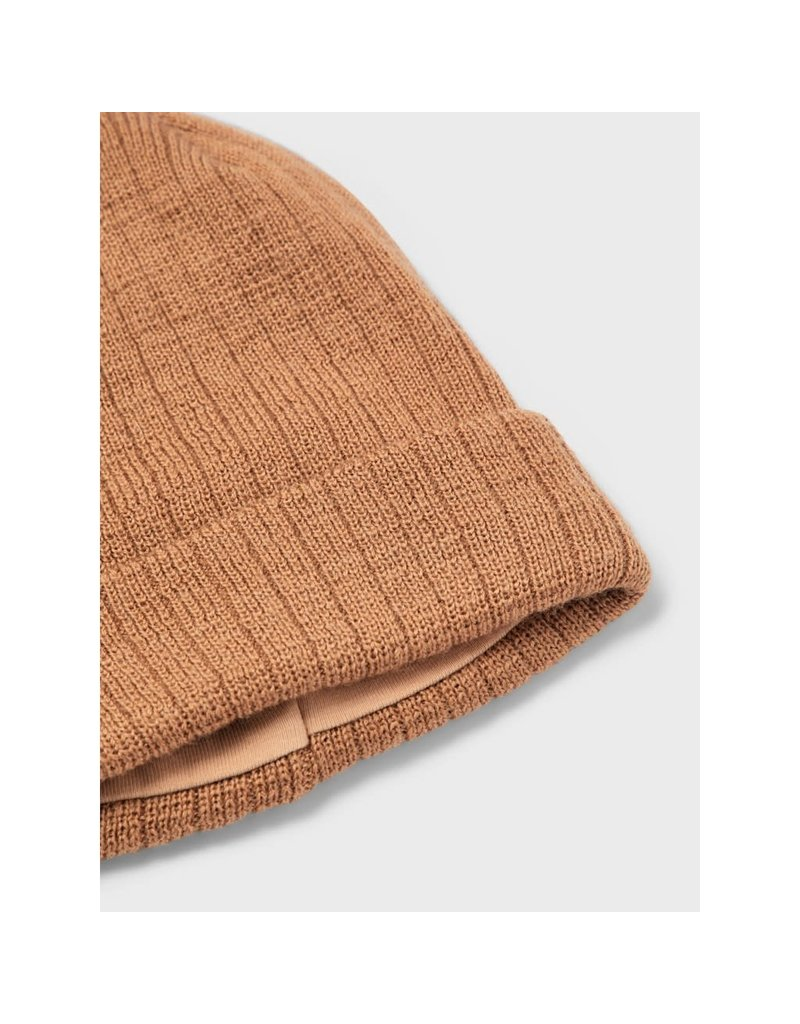 Lil ' Atelier Lil ' Atelier : Knit hat muts - Tobacco brown