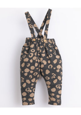 Play Up Play up : Jersey stitch trousers with removable straps - frame melange
