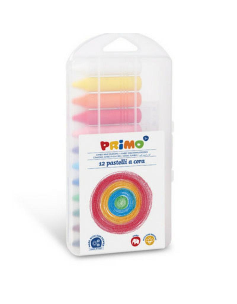Primo Primo - 12 Jumbo waskrijt rond in box