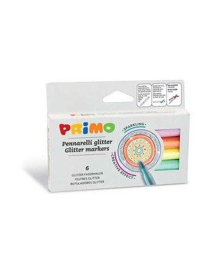 Primo Primo - 6 viltstiften glitter