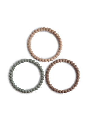 Mushie Mushie - Siliconen bracelet 3 pack sage/tuscan/dese