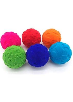 Rubbabu Rubbabu - Leerzame ballen assortiment 6 kleuren