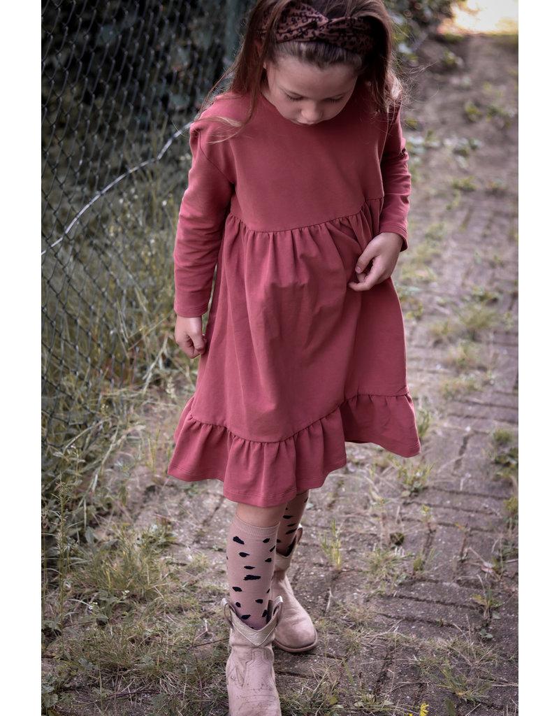 Petit Blush Petit Blush : Ruffle dress - Marsala