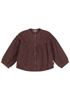 Daily Brat Daily Brat : Tara corduroy top glitter dots brown