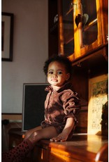 Daily Brat Daily Brat : Ellie corduroy playsuit glitter dots brown