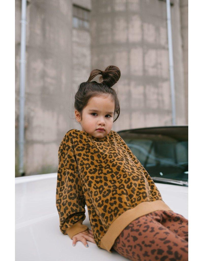 Daily Brat Daily Brat : Leopard towel sweater sandstone