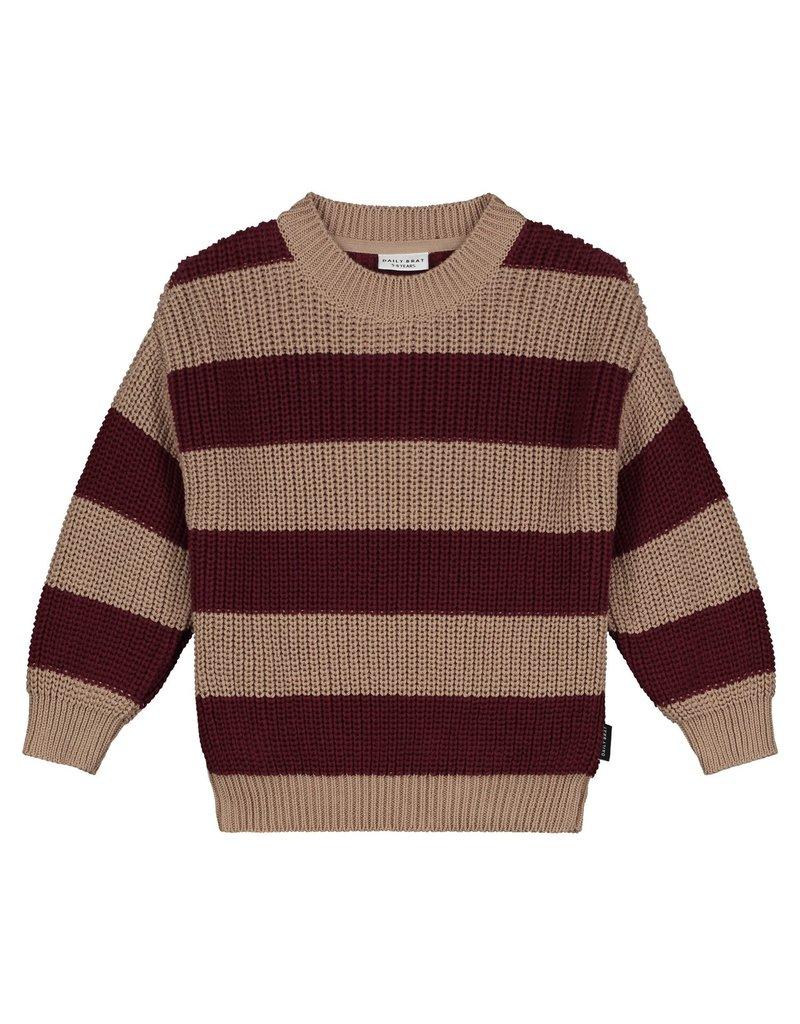 Daily Brat Daily Brat : Elliot striped knitted sweater pecan