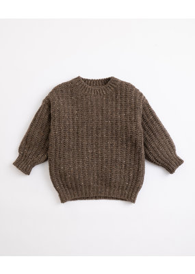 Play Up Play Up : Knitted sweater coffee brown