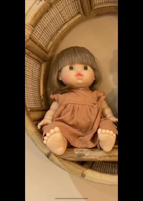 Minikane Minikane :Poppenkleding  Koper jurkje met borduursel