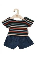 Hollie Hollie : Setje met jeansbroekje stripes